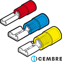 Cembre Female Disconnect Terminals Insulated