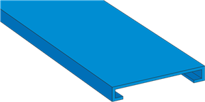 GN A6 4 LF Blue Panel Trunking Lid