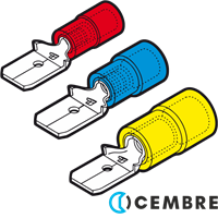 Cembre Male Disconnect Terminals Insulated