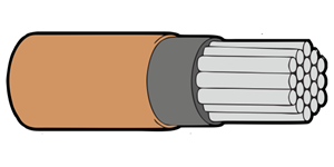 Type 44A Primary Wire 24AWG Brown