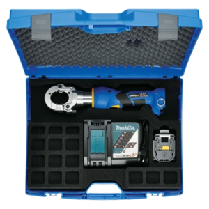 EKM6022CFM supplied with Makita battery, charger and case