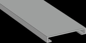GF-DIN A7 5 LF Grey Panel Trunking Lid