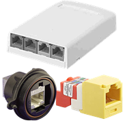 Sockets, Jacks and Surface Mount Boxes