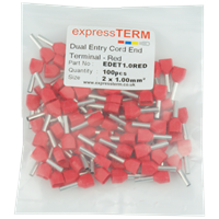 Dual Entry Cordend Terminals Packaging