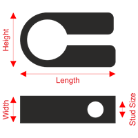 Clingstrap Cleat Dimensions