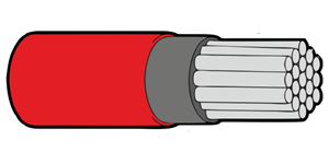Type 44A Primary Wire 22AWG Red
