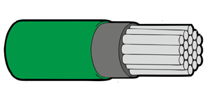 Type 44A Primary Wire 22AWG Green
