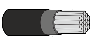 Type 44A Primary Wire 22AWG Black