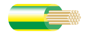 Type BR Panel Wire Green-Yellow