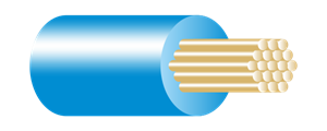 Type BR Panel Wire Blue