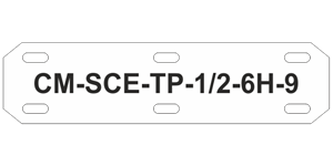 CM-SCE-TP 6H Military Grade Cable Markers
