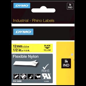 S0718080 12mm Rhino Nylon Cloth Tape Yellow