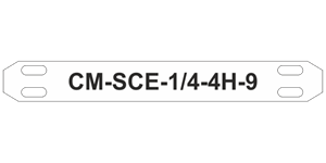 CM-SCE 4H Military Grade Cable Markers