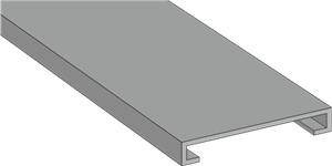 GN A6 4 LF Grey Panel Trunking Lid