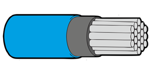 Type 44A Primary Wire 22AWG Blue