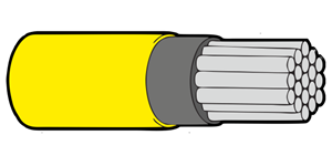 Type 44A Primary Wire 12AWG Yellow