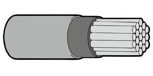 Type 44A Primary Wire 22AWG Grey