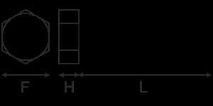 Galvanised Hexagon Setscrews SKU2